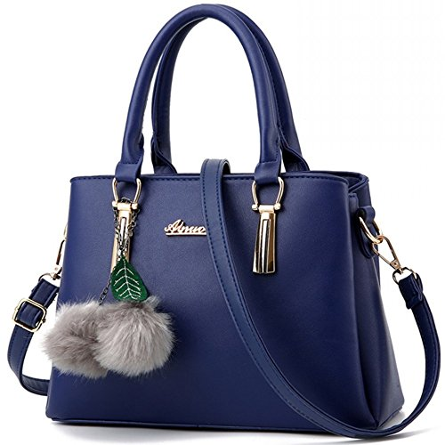 Ladies' PU Leather Handbags for Women Shoulder Bag with Strap for Girls