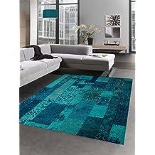 Amazon.fr : tapis bleu turquoise