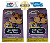 Cat Litter Bags - Tidy Cat Litter Tray Liners - Cat Litter Pan Bags For Fast And Easy Cat Litter Disposal - Pack of 50