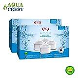 8 x AquaCrest AQK-07 Wasserkrugfilter Ersatz für Brita Maxtra, Mavea, Laica Bi-Flux, Dafi Unimax, Aquaphor Maxfor, AmazonBasics, PearlCo Unimax, Aluna Cool, Lauson AWF102, Aqua Optima Evolve, ANNA Duomax