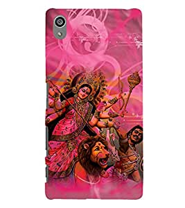 Durga Maa 3D Hard Polycarbonate Designer Back Case Cover for Sony Xperia Z5 Premium (5.5 Inches) :: Xperia Z5 Plus
