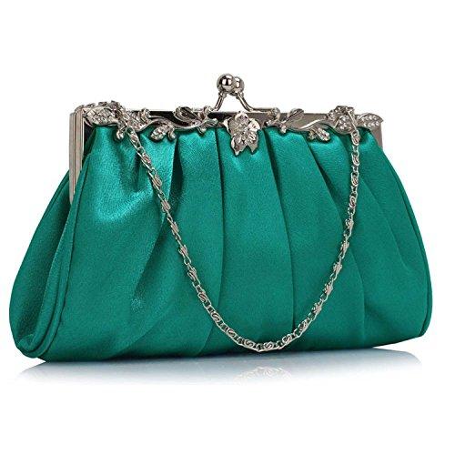 L And S Handbags, Poschette giorno donna Teal