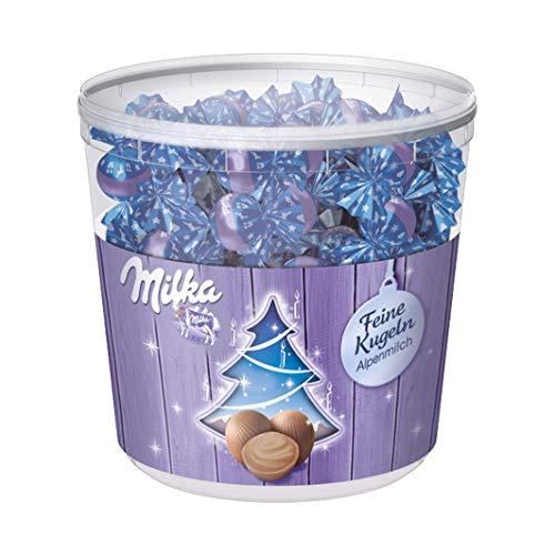 Milka Feine Kugeln Alpenmilch - Zartschmelzende Schokolade mit Alpenmilch Füllung in der Milka Großpackung - 900g