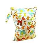 3PCS Giraffe Muster Baby wasserdicht Reißverschluss Tasche waschbar wiederverwendbar Baby