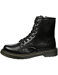 Feet First Fashion Aline Womens Low Heel Lace up Ankle Boots