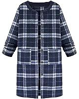 ZANZEA Women Cotton Check Plaid Long Sleeve Tartan Tops Shirt Cardigan Coat