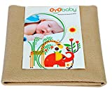 Oyo Baby Quickly Dry Super Soft Waterproof and Reusable Mattress Protector, Large, Beige