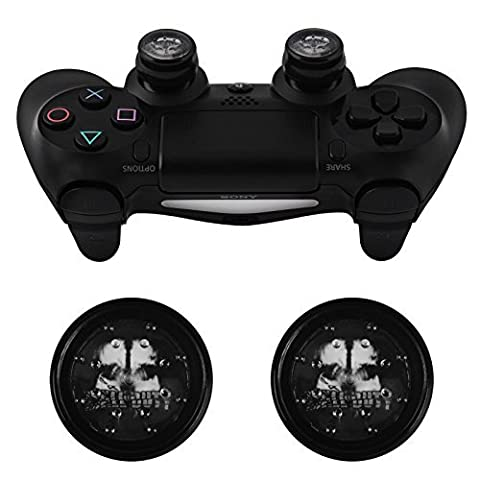 JELLY PROCAP - THUMB GRIPS for PS4 DualShock GAMEPAD CONTROLLER (SKULL GHOST)