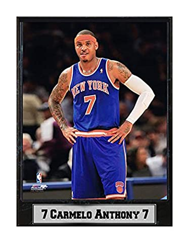 Encore Select 512-04 NBA New York Knicks Carmelo Anthony Logo Plaque, 9-Inch by 12-Inch