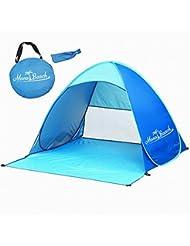 MonoBeach Tente de Plage Bébé Enfant Pop-up Automatique Instantané Portable avec Protection Soleil Anti UV