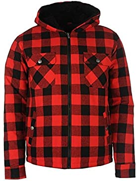 Plantada generación leñador chaqueta con capucha para hombre rojo/BLK chaquetas abrigos Outerwear, rojo/negro,...