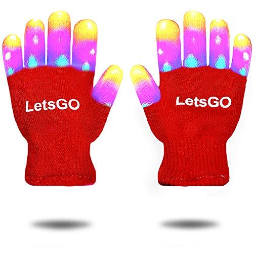 EUTOYZ Mädchen Spielzeug Alter 4-9, LED blinkendes Kostüm Dress Up Finger Light Up Handschuhe für Kinder Gastgeschenke 3-12 Jahre altes Mädchen Geschenke Junge spielt rosa CCUKST02 (Light Up Kostüm Kind)