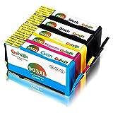 Gohepi 903L 903XL Compatibile per Cartucce HP 903 L 903 XL per HP OfficeJet 6950, HP OfficeJet Pro 6960 6970 - 2 Nero/Ciano/Magenta/Giallo, Confezione da 5