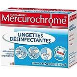 Mercurochrome - Parapharmacie - Parapharmacie - nettoyer et désinfecter - BTE DE 12 LINGETTES D+SINFECTANTES