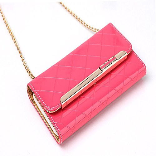 iPhone 8 Wallet Case,elecfan® Women Cute Style Candy Color PU Leather Stand Cover Flip Lady Multi Envelope Wristlet Handbag Wallet Case with Cards Slots Card Holder(iPhone 8, Weiß-A02) Rosa-A02