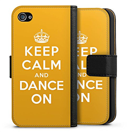 Apple iPhone X Silikon Hülle Case Schutzhülle Keep Calm Tanzen Dance Sideflip Tasche schwarz