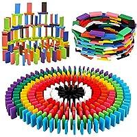 SFR Super Dominos Blocks, 12 Color Bulk Wooden Dominos Blocks Set, Kids Game Educational Play Toy, Domino Racing Toy…