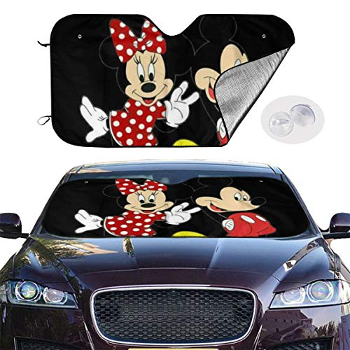 YQLDFB Parasol Parabrisas Coche Love Minnie & Mickey