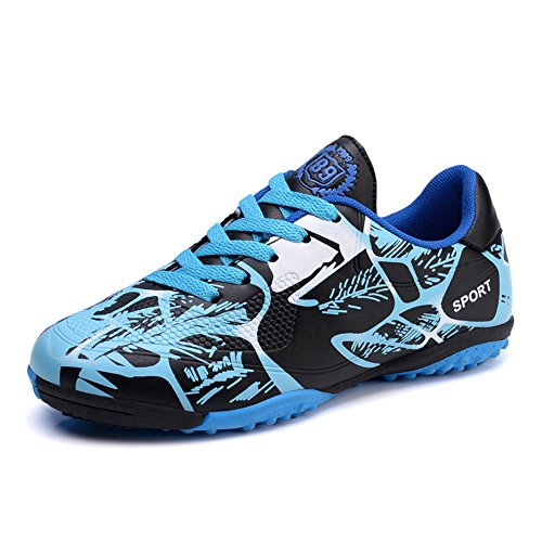 new concept 6f581 369eb PAMRAY Boys  Soccer Trainers Mens TF Hard Ground Running Shoes Teenagers  Professional Spikes Football Sneakers