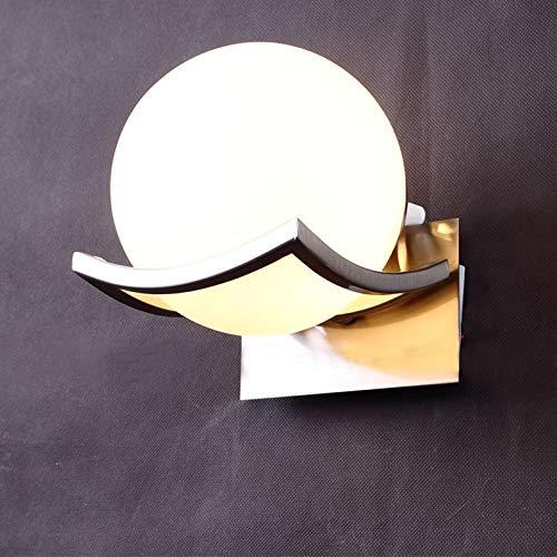 DAXGD Lampada da parete in vetro Luce della parete del LED per la camera da letto, bagno, disimpegno