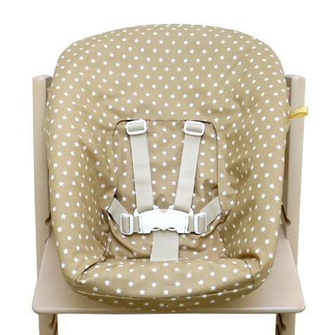 Blausberg Baby - Bezug für Stokke Newborn Set beige Sterne (Ess-set Honig)