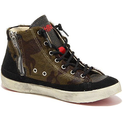 78130 sneaker alta ISHIKAWA ISAD scarpa donna shoes women Nero