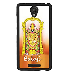 Fuson Premium Lord Balaji Metal Printed with Hard Plastic Back Case Cover for Xiaomi Redmi Note 2
