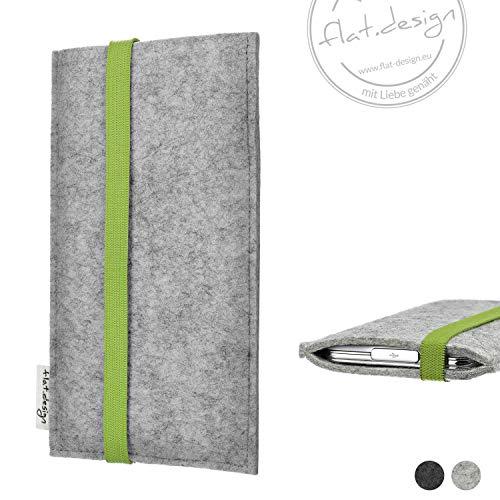 Handy Hülle COIMBRA - Filz Gummiband Tasche Case grün