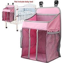 Organizador para pañales de bebé con varios bolsillos, 16,5 x 10,6