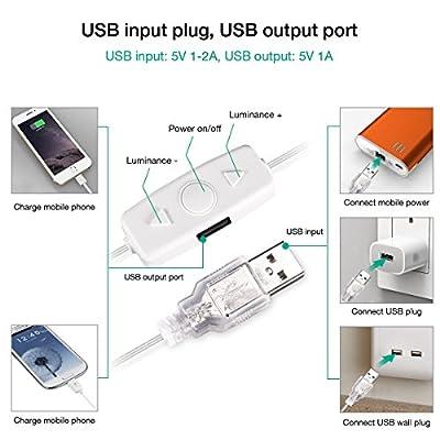 LED Spiegelleuchte von HOMEASY Dimmbar Spiegel Beleuchtung 10 Hollywood-Stil USB LED Spiegellampe Make-up Spiegel Glühbirnen