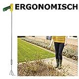 Eurosell - XXL Premium Kultivator Vertikulierer - ohne Bücken dank langem Stil - Pflanz Pflanzen Gabel - Ergonomischer Handgriff - perfekt auch für Senioren
