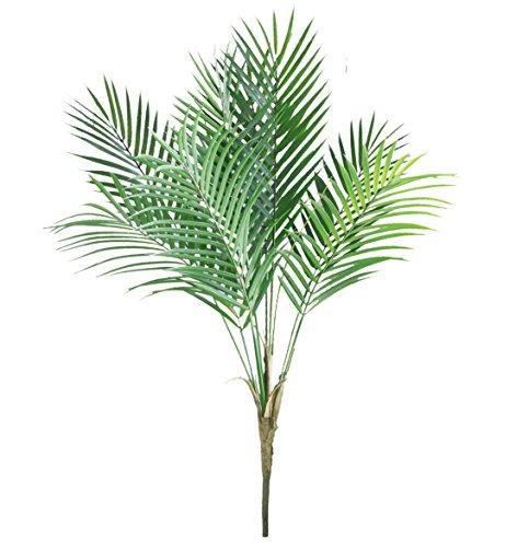 Pflanzen Palm Tree Kunstleder Palm Blätter Greenery Tropischen Palm Grün Kunststoff Pflanze Blatt Jungle Party Dekorationen Outdoor Decor/85,1cm ()