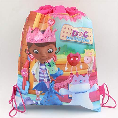 säcke Doc McStuffins Motto Party Dekorationen Kordelzug Tasche Kinder Mädchen Geburtstag Geschenk Supplies ()