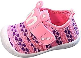 Saingace Baby Toddler Girl Boy Cartoon Star Rabbit Ears Crochet Anti-Slip Sneaker First Walking Shoes