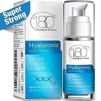 Serum de ácido hialurónico Forte & Vitamina Cde 180 Cosmetics.No necesita jeringuillasserum ultraconcentrado con ácido hialurónico, Vitamina C & Srellena las líneas finas y arrugas. Serum antienvejecimiento, 15ml