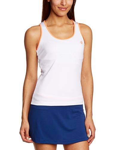 lotto-sport-nixia-top-da-donna-multicolore-white-fluo-carrot-xl