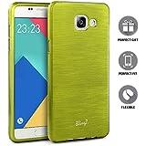 Samsung Galaxy A3 (2016) Coque, TheBlingZ.® Rayé silicone TPU Housse Etui Coque Case Cover Samsung Galaxy A3 (2016) - Jaune