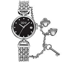 Burgi Womens Quartz Watch, Analog Display and Stainless Steel Strap BUR172SSB
