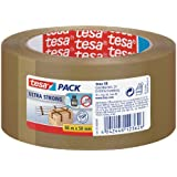 tesapack Ultra Strong Packband / Extra starkes und reißfestes Paketband von tesa in Braun / 660 cm x 50 mm
