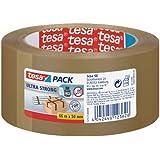 tesa 57177-00000, Tesapack Ultra Strong Packband (intensive Klebkraft), braun