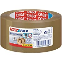 tesa 57177 - Ruban d'emballage Ultra Strong PVC - Marron - 66m:50mm