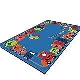 QETU Kinder-Spielteppich Für Kinder, Rutschfest/Abriebfest / Waschbar, Geeignet Für Schlafzimmer, Kinderzimmer, Wohnzimmer Krabbeln Matte,#1,140X200cm