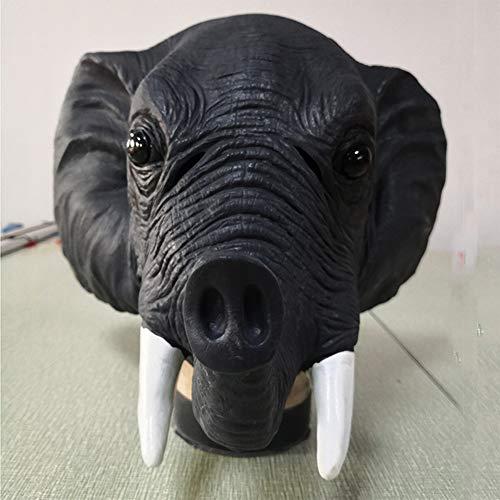 Yuahwyehe Máscara Divertida de Elefante asiático Opción para usos en Diferentes Lugares (casa, Discoteca, Club) y situaciones (Fiestas, cumpleaños, Festivales, Carnaval, Halloween, Navidad).