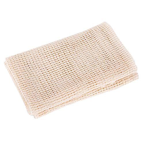 BESTONZON Käse Tuch Gaze Passiertuch Filtertücher Seihtücher Baumwolle wiederverwendbar für Dampfer Steamer Gedämpfte (Beige) -