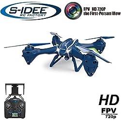 S-Idee® 01622UDI U842W - Cuadricóptero, dron WiFi, cámara HD 4.5,canal 2.4GHz, con giroscopio, 6ejes, técnica RC Quadro 3D VR posible, estabilización en altura, función vuelta a casa con una tecla