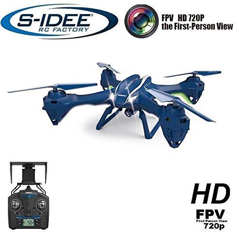 s-idee® 01622 Quadrocopter Udi U842W Wifi Drohne FPV HD Kamera 4.5 Kanal 2.4 Ghz Drone mit Kamera Gyro 6 Axis Technik RC Quadro 3D VR möglich, Höhenstabilisierung, One Key Return Coming Home Funktion