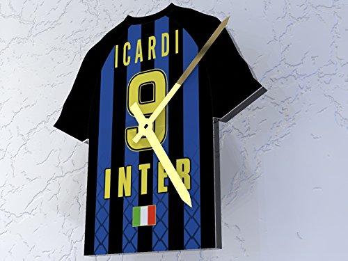 MyShirt123 Inter de Milán FC Fútbol Club–Camiseta de fútbol Reloj–Cualquier Nombre y Cualquier número–Elegir.