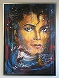 H. Packmor GmbH Tableau Mural Original Michael Jackson Frank Zander Peint à la Main