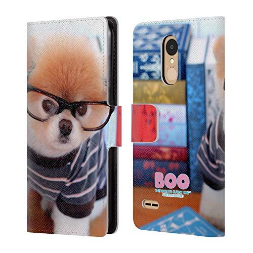 Head Case Designs Offizielle Boo-The World's Cutest Dog Nerdisch Sonnenbrillen Brieftasche Handyhülle aus Leder für LG K8 / K9 (2018)