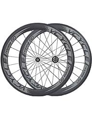 [VCYCLE nopea] ultra léger fibre de carbone roues tubulaire 60mm pour 700c vélo de course 1395g